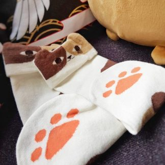 Cute Japanese Neko Animal Cat Paw Ankle Socks Kawaii Cosplay - Calico