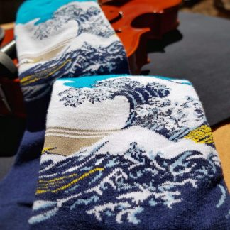 Painting Art Socks - Great Wave off Kanagawa - Japanese Ukiyoe Classy Fun Unisex