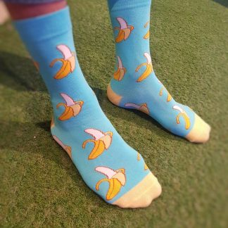 banana food socks