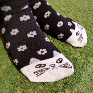 cute flower cat socks