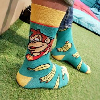 Donkey Kong Video Game Socks