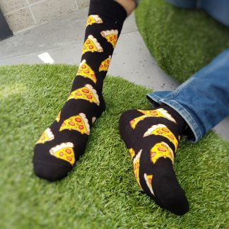 cheesy pizza food socks